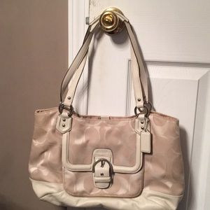 Off white or cream coach bag